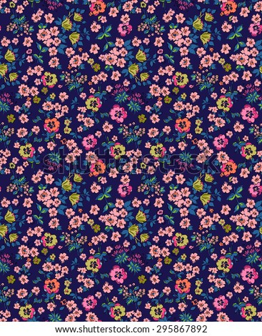 Seamless Ditsy Floral Pattern  - stock photo