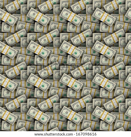 Seamless Dollars background - stock photo
