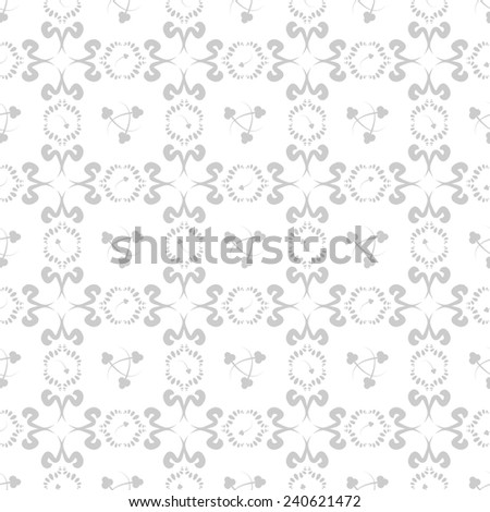 Seamless doodle pattern with floral elements - stock photo