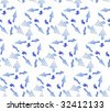 Seamless Dotted Arrow Pattern - stock photo