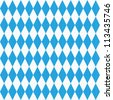 Seamless (easy to repeat - you see 9 tiles ) Oktoberfest and Bavarian flag pattern or background with fabric texture ( for vector EPS see image 113435752 )  - stock vector