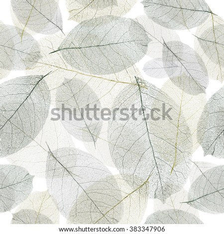 Seamless faded leafs pattern. - stock photo