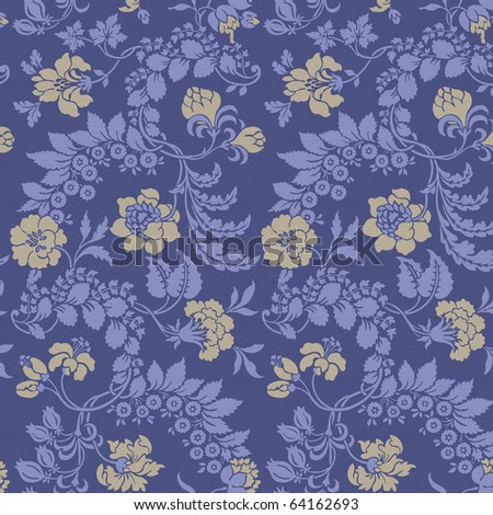 Seamless floral background. - stock photo