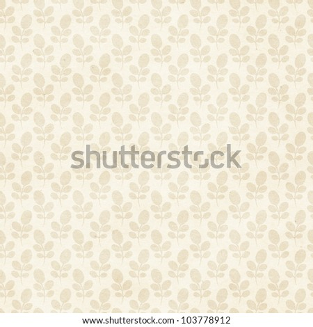 Seamless floral background. Delicate lace-like pattern on paper texture - stock photo