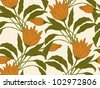 Seamless floral background.  Raster version. - stock photo