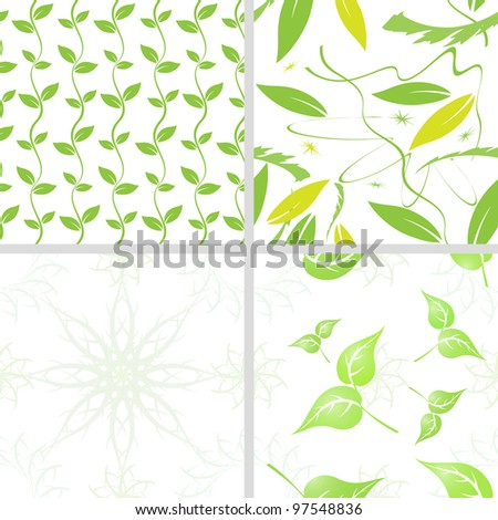 Seamless floral backgrounds - stock photo