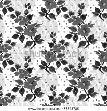 Traditional China Patterns seamless floral pattern beautiful camellia hand stock illustration