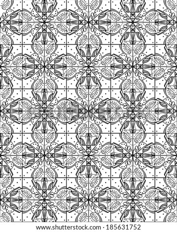 Seamless floral pattern. Hand drawn abstract background.
