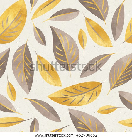 Seamless floral pattern on paper texture. Botanical background