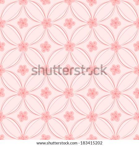 seamless floral pattern, rasterized - stock photo