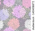 Seamless floral pattern with flowers of chrysanthemum. Raster version. Vector is also available in my gallery - stock