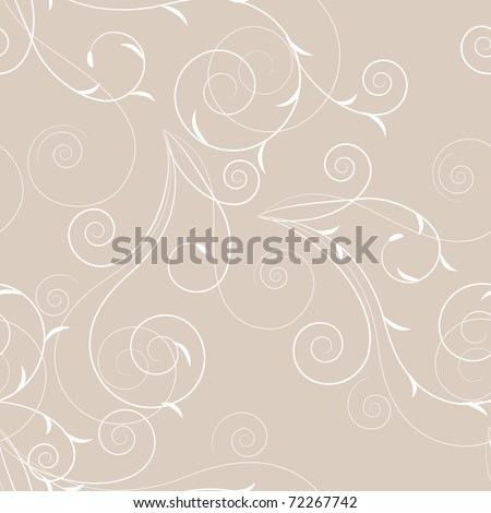 Seamless floral swirl pattern. Raster version. Vector version is in my gallery. - stock photo