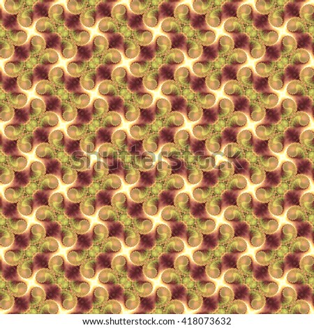 Seamless fractal pattern, sepia. Abstract bright wall-paper, a print for fabric, decorative textiles, packing paper, etc. - stock photo