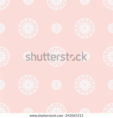 Seamless geometric  background in shades of pink - stock photo