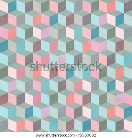 Seamless geometric patter. Illusion background - stock photo