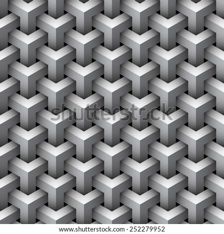 Seamless geometric pattern background. - stock photo