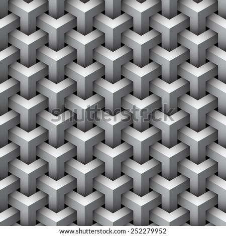 Seamless geometric pattern background. - stock photo