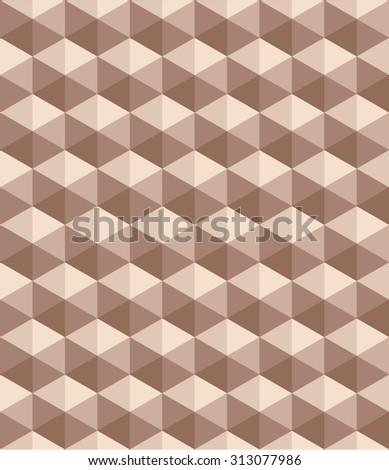Seamless geometric pattern. beige background. raster version - stock photo
