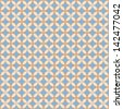 Seamless geometric pattern made with yellow elements. Raster version. Vector image inside my portfolio - stock photo