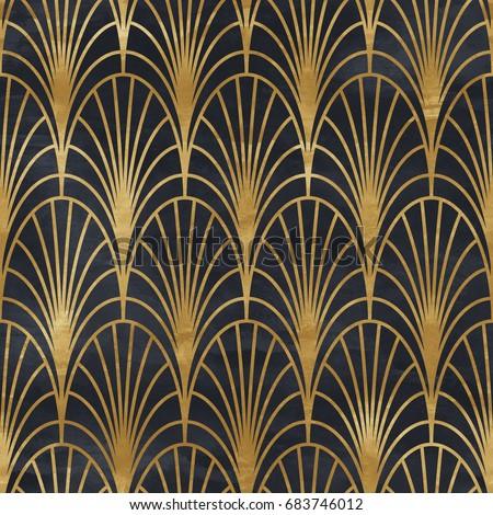 Seamless geometric pattern on paper texture stock illustration seamless geometric pattern on paper texture art deco background voltagebd Images