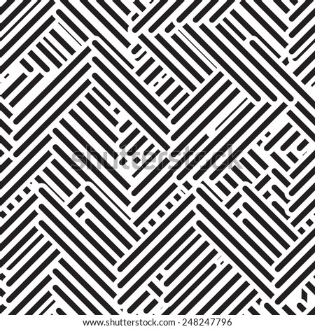 Seamless geometric pattern. Repeating maze  - stock photo