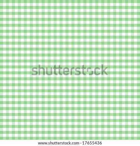 Seamless Gingham, pastel green and white check pattern for sewing, arts, crafts, albums, scrapbooks and home decorating. - stock photo