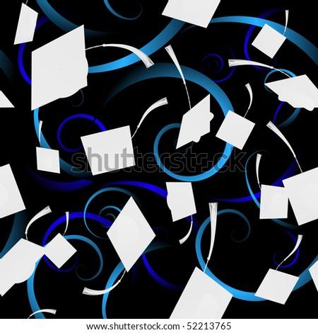 Seamless graduation swirl background - raster - stock photo