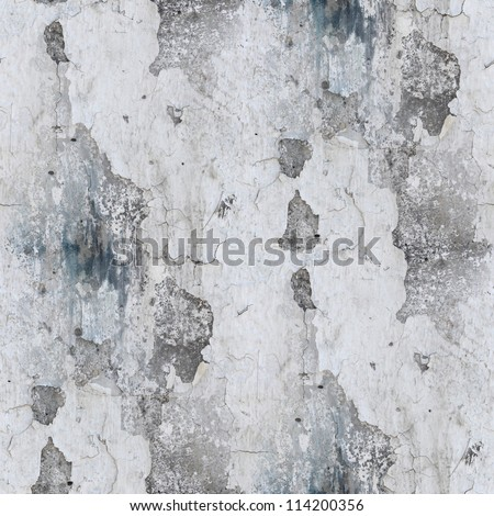 seamless grunge concrete wallpaper stone old gray texture wall with crack background - stock photo