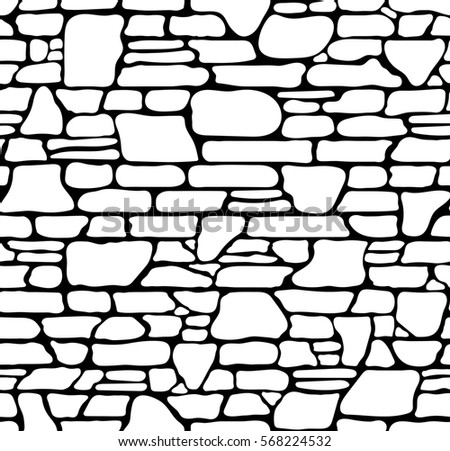 seamless grunge stone brick wall texture stock illustration rh shutterstock com Bricks Clip Art Black Brick by Brick Clip Art