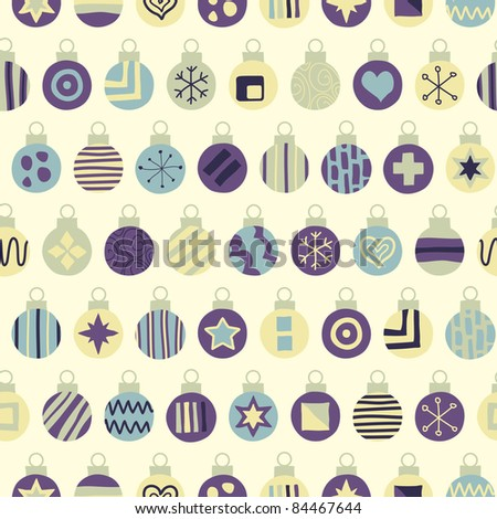 Seamless Hand Drawn Bauble Background. Raster Version. - stock photo