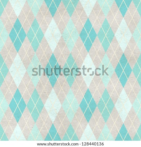 Seamless harlequin background on paper texture - stock photo