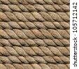 Seamless Hemp Rope Texture Pattern - stock photo