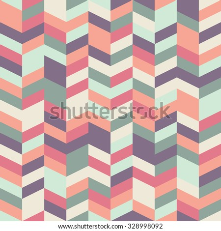 Seamless herringbone pattern with a cool pastel color palette - stock photo