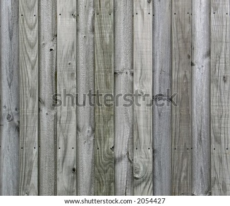Seamless horizontal tiling wood fence texture. Part of a seamless tiling collection. - stock photo