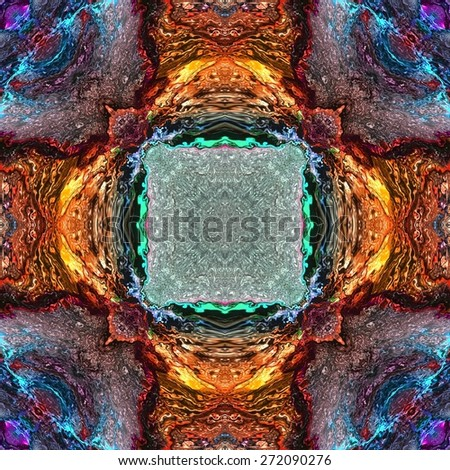 Seamless kaleidoscope texture or pattern colorful spectrum -wallpaper pattern - stock photo
