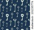 Seamless keys pattern - stock photo
