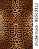 Seamless leopard pattern skin - stock vector