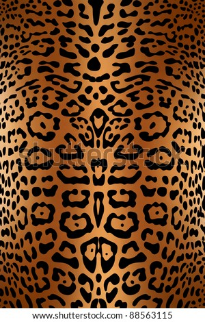 Seamless leopard pattern skin - stock photo