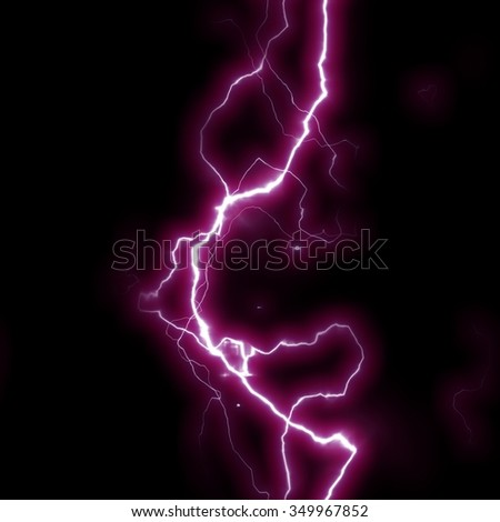 Seamless Lightning Strikes with Black background.
