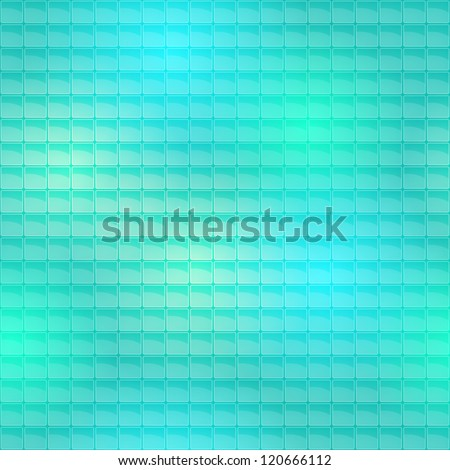 Seamless Lite Tiles Pattern on sea wave background - stock photo