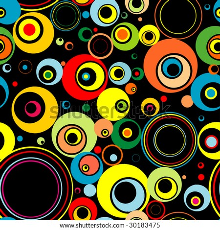 Seamless magic background from circles.