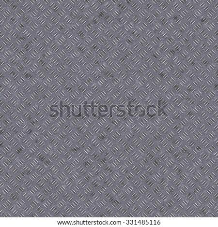 Seamless metal diamond texture background. - stock photo