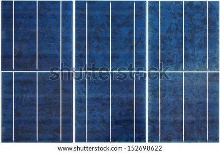 Seamless modern polycrystalline solar panel texture  - stock photo