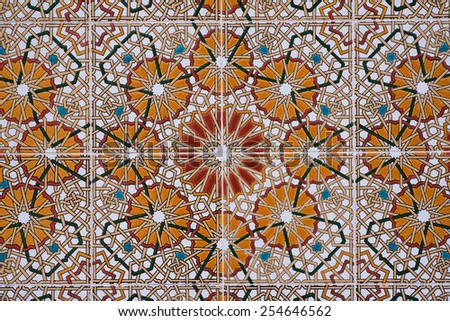 Seamless mosaic tile pattern - stock photo