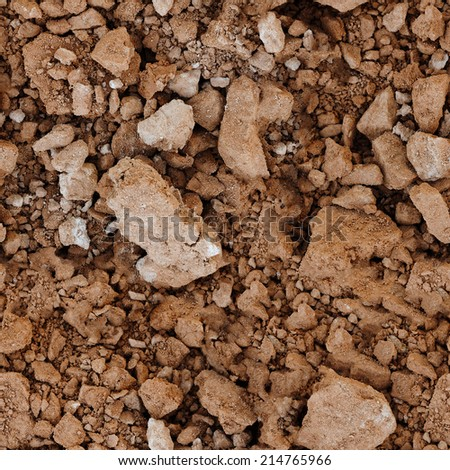Seamless natural texture - the surface of the soil - stock photo