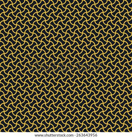 Seamless neon orange arc based geometric pattern - stock photo