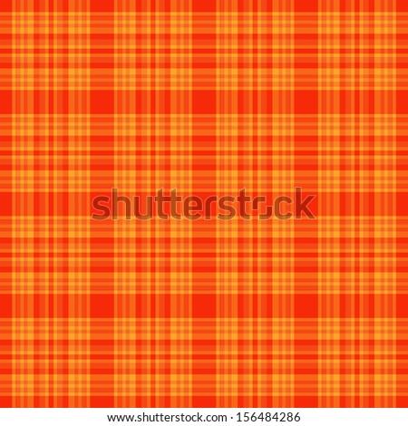 Seamless Orange Plaid - stock photo