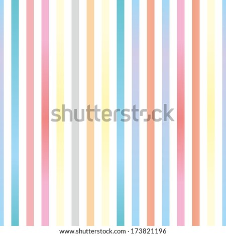 Seamless pastel stripes background or pattern illustration. Desktop wallpaper with colorful yellow, red, pink, green, blue, orange and violet stripes for kids website background