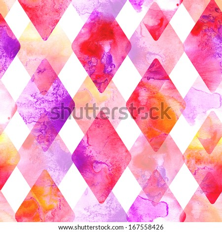 Seamless pattern. Abstract watercolor hand painted background - stock photo