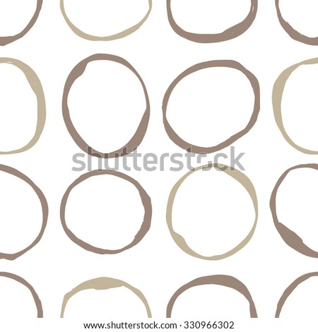 Seamless pattern design with sketchy circles, trendy, simple and stylish repeating background for all web and print purposes. Raster version - stock photo